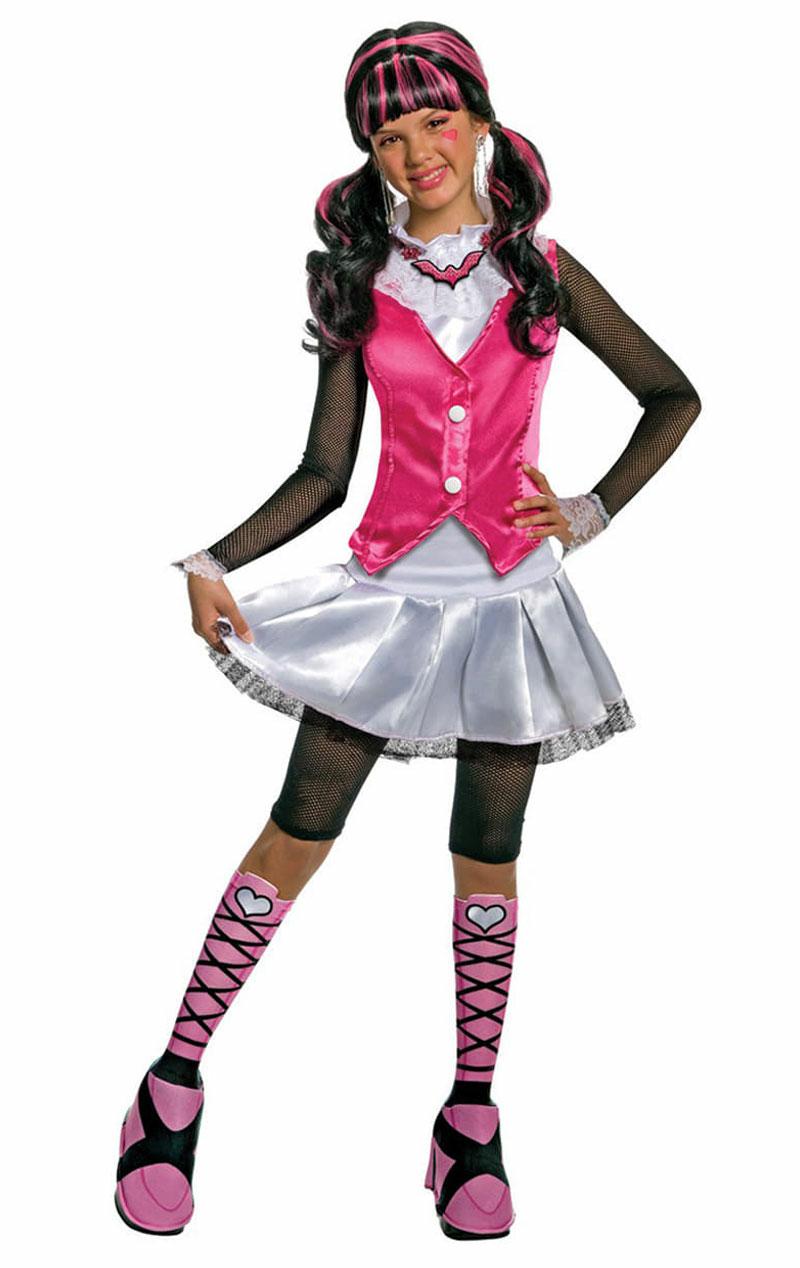 Girls monster high draculaura halloween cartoon fancy dress