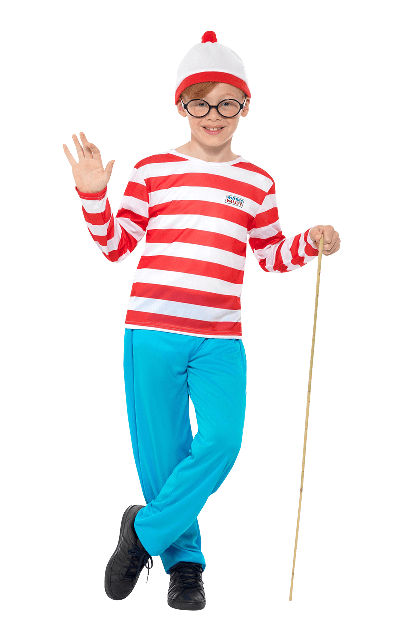 Where/'s Wally Fancy Dress Costume Kids Age 4-5 years