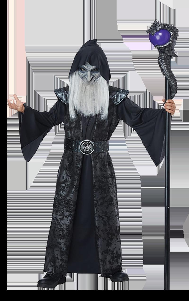 Boys Age 8 14 Years Dark Wizard Halloween Fancy Dress Costume Ebay